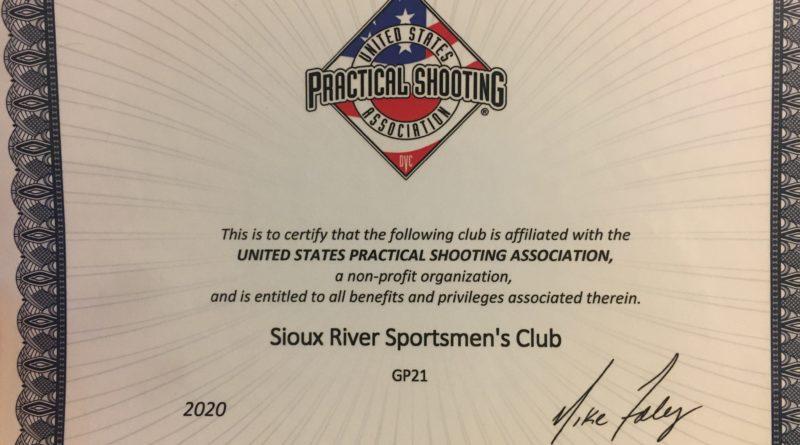 SRSC USPSA Certificate
